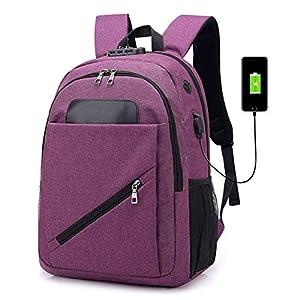41Y5rPpluuL. SS300  - BEIBAO Dama Mochila Inteligente USB Interface recargar Mochila Hombre Gran Capacidad Impermeable 15,6 Pulgadas Viajero…