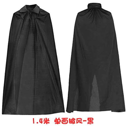 FENG Halloween - Umhang kostüm Tod Umhang Vampir Pirat Umhang, Rote und Schwarze Two - Tone - Umhang Doppel Stehen Kragen (Vampir Piraten Kostüme)
