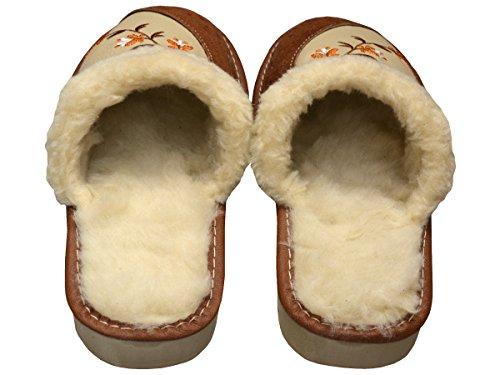 Bawal, Pantofole donna Marrone