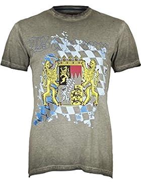 Krüger Herren Herren T-Shirt mit Bayern-Wappen, Braun,