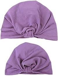 Mitlfuny Sombreros Invierno Caliente Recién Nacido de Algodón Suave Gorras  de Turbante Infantil Niño Nudos Diadema Color Sólido Gorro… b79ed80eb74