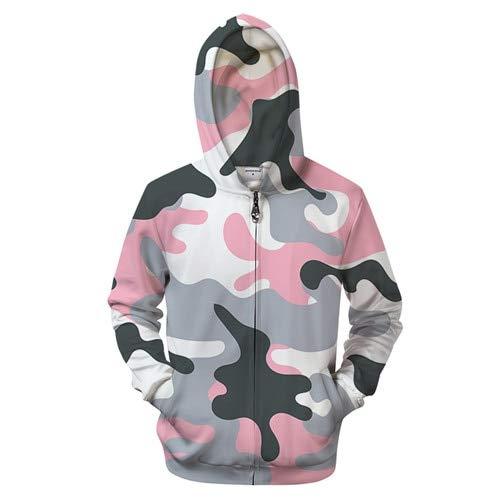 Ai Ya-weiyi 3D Camo Rose Hoodie Zipper Vêtements Hommes Femmes Sweat Zip Hoody Pull Décontracté Manteau Survêtement De Groot