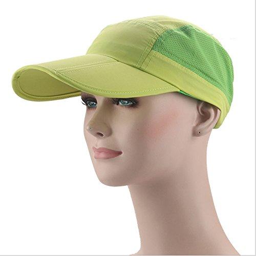 Chreey Faltbares Design mit Atmungsaktive Mesh Outdoor Sport-Kappe, Baseballmütze Männern Frauen Mode Sonnenhut [Apfelgrün]