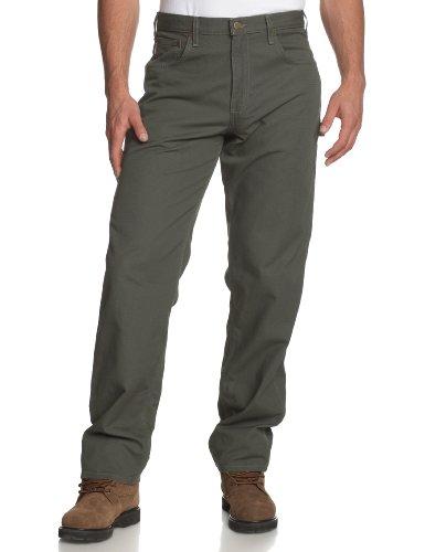 Carhartt Herren Schreinerhose mit 5 Taschen, Loose Fit B159 - Grün - 42W / 30L Carhartt Carpenter Jeans