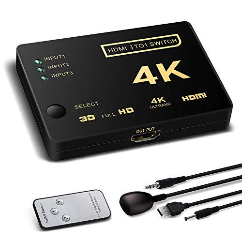 Switch hdmi supporta hdcp 1080p 3 in 1 out 4 k ultra hd risoluzione per mac