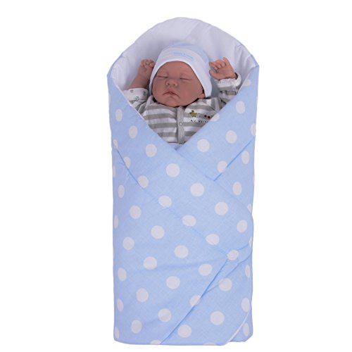 Preisvergleich Produktbild Sevira Kids Baby Boys' Sleeping Bag Blue blue From Birth, 80 x 80 cm