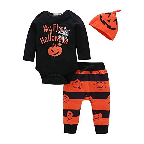 LHHJ Frühling und Herbst Baby Kleidung Halloween Kostüm Baumwolle Boy Set Langarm + Hosen + Hut A 70