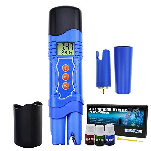 ORP A Prueba De Agua De Alta Precisión De 3 En 1 Metro Con Reductor De Oxidación Del Probador De Electrodos Adicionales Para Hidroponía