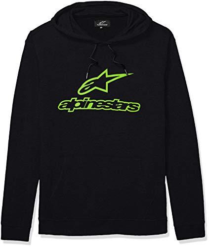 Alpinestars Herren Logo Fleece Pullover Hoodie Classic fit Kapuzenpulli, Always Ii Black/Green, Groß