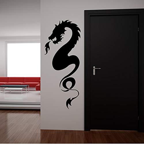 zqyjhkou 2018 Rushed Art Decor Gedruckt Spitfires Dragon Wandaufkleber Home Vinyl Abnehmbare Selbstklebende Wandbild M599 140 x 58 cm