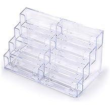 Sumnacon 8 Compartiments 2PCS Prsentoirs De Carte Visite En Acrylique Transparent Dcent Pour