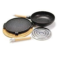 Promo Tondo Black cm 32Promo Tondo Black cm 32 comprende una bistecchiera doppio lato (cm 32), un wok (cm 30), un sottopentola in Bamboo, uno spargifiamma (adattatore per il gas), pinzetta, palettina e girocrepes. Una fantastica idea regalo a...