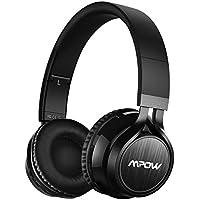 Mpow Thor, Auriculares de Diadema Casco Bluetooth Inalámbrico con Micrófono Casco Plegable Headphone Bluetooth Manos Libres y Cable de Audio para Apple iPhone 7Plus, 6s, 6 Samsung Sony Huawei Movil, PC, Mac y TV