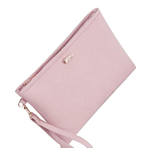 Frauen Tasche, brezeh Fashion Clutch Leder Tasche Clutch Buchse Kupplungen Handtasche Einheitsgröße rose (Kupplung Sling Purse)