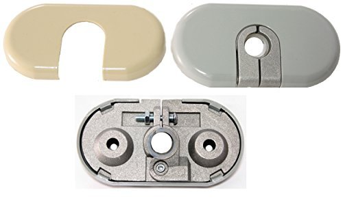 apdty-035380-sun-visor-mount-bracket-repair-kit-includes-tan-gray-cover-fits-left-or-right-on-2002-2