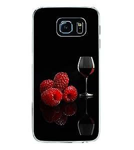 Fuson Premium Wine Metal Printed with Hard Plastic Back Case Cover for Samsung Galaxy S6 Edge Plus