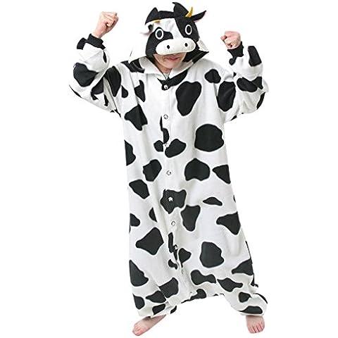 Gillbro animado animal adulto del traje de Cosplay de los pijamas, vacas