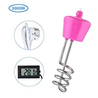 Axjzh Water Heating Element, 3000W High Power Stainless Steel Electric Floating Immersion Element Water Heater Boiler 2M,A