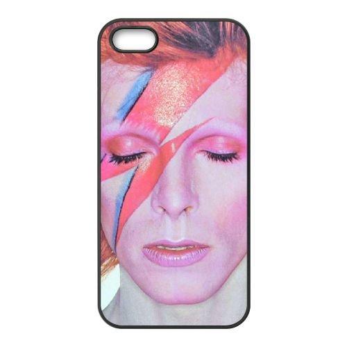 David Bowie coque iPhone 5 5S Housse téléphone Noir de couverture de cas coque EBDXJKNBO13491
