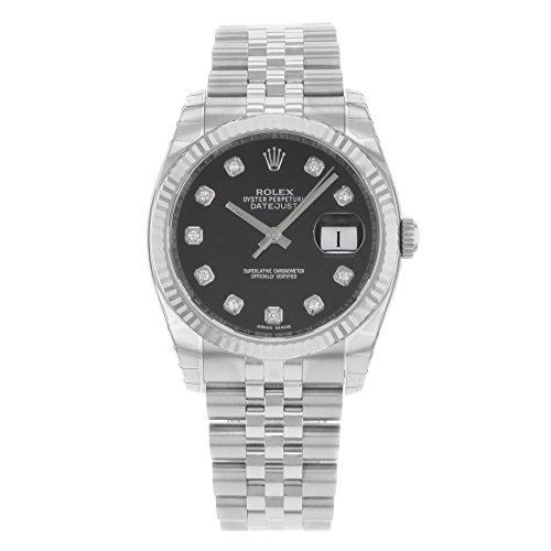 Rolex Armband Datejust Jubilee Diamant Jubilee Silber Geriffelt Herren Weiß Lünette Uhr Zifferblatt Gold 18k