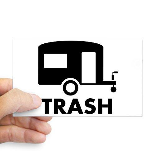 ea20cd846a433 CafePress - Trailer Trash Rectangle Sticker - Rectangle Bumper Sticker Car  Decal