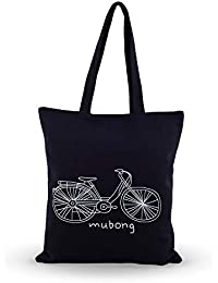 Shoppertize Latest Multipurpose Tote Bag, Designer Tote Bag, Tote Bag For College Girls- Cycle Black
