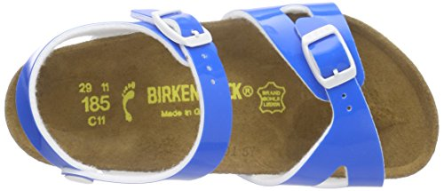 Birkenstock Rio, Sandales Plateforme mixte enfant BLEU (NEON BLUE)