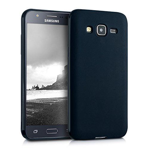 kwmobile Samsung Galaxy J5 (2015) Cover - Custodia per Samsung Galaxy J5 (2015) in Silicone TPU - Backcover Protezione Nero Matt