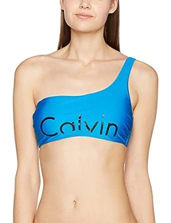 Calvin Klein One Shoulder Bralette-Rp, Bikini Donna, Blu (Blue Jewel 488), 34 (Taglia Produttore: X-Small)