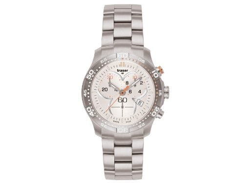 Traser H3 Ladytime Silver Cronografo Orologio per Donne T7392.25H.G1A.08 / 100279