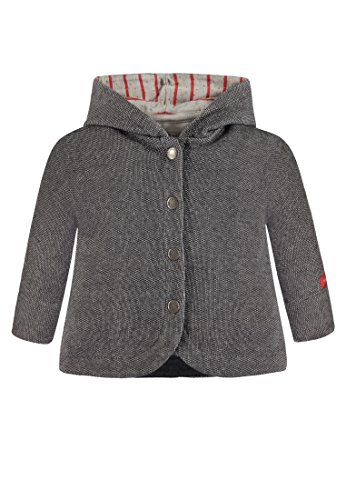 Bellybutton Kids Bellybutton Kids Baby-Mädchen Sweatjacke 1/1 Arm m. Kapuze, Grau (Asphalt Gray Melange 8442) 62