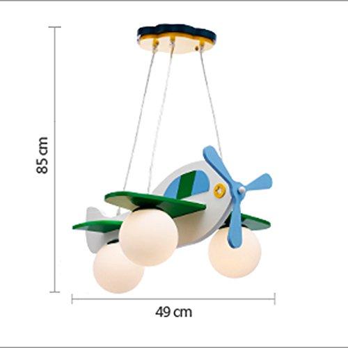 Guo Kinderzimmer-Lichter Jungen-Raum-Flugzeug-Lichter Kronleuchter-Pers5onlichkeit-kreative Eisen-Lampen E27 Lampen-Hafen - 5
