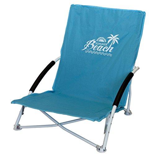 Multistore 2002 Strandstuhl Campingstuhl Summer-Beach inkl. Transporttasche Beachchair Klappstuhl Gartenstuhl Campingmöbel Gartenmöbel, Farbe:Blau