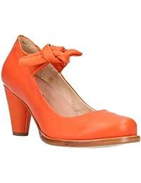Womens S938 Suave Carrot/Beba Ankle Strap Heels, Orange Neosens