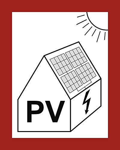 Hinweis auf PV-Anlage Photovoltaikanlage Alu 25 x 20cm