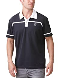 K-Swiss Taped - Polo para hombre negro blanco y negro Talla:medium