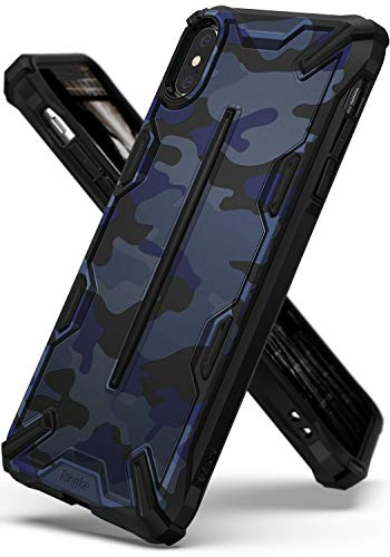 Ringke Dual-X Design Kompatibel mit iPhone XS Max [Camo Blue] PC TPU Dual Layer Kratzfest Schwerlast Cover Stoßfest Case Ergonomisch Robust Stylish Panzer Handyhülle für iPhoneXS Max Schutzhülle -