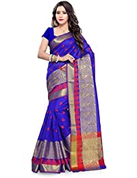INDIAN BEAUTIFUL WOMEN'S ETHNIC WEAR BLUE COLOUR SAREE WITH BLOUSE PIECE