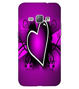 ColourCraft Lovely Heart Image Design Back Case Cover for SAMSUNG GALAXY J1 (2016)