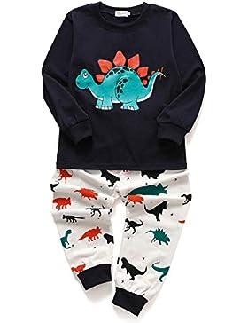 Tarkis Jungen Schlafanzug Baumwolle Weihnachten Kinder Nachtwäsche Pyjama Sets Dinosaurier Schlafanzug Sets
