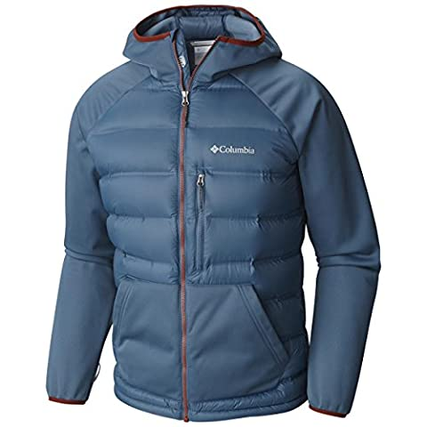 Columbia Ramble Down Hybrid Sweat-Shirt Homme, Blue Heron, FR : S (Taille Fabricant : S)