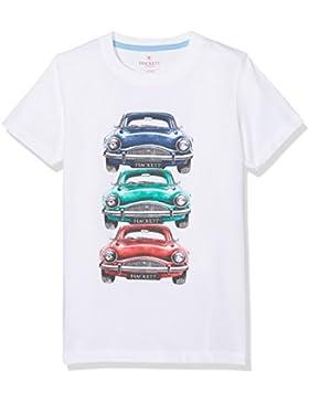Hackett London Car Stack tee B, Camiseta para Niños, Blanco (White 800), Talla única (Talla del Fabricante: K07)