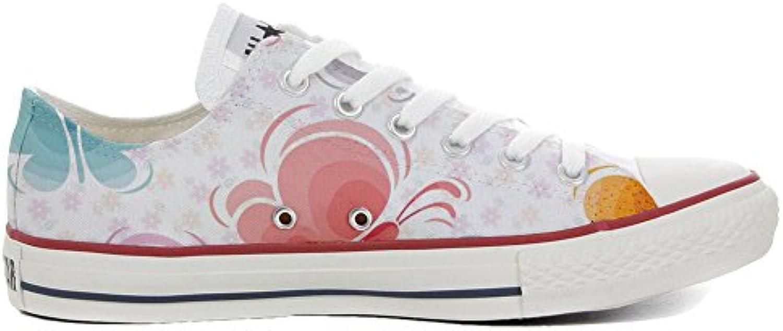 mys Converse All Star Cutomized   Personalisierte Schuhe (Handwerk Produkt) Slim Schmetterling   Size EU 44