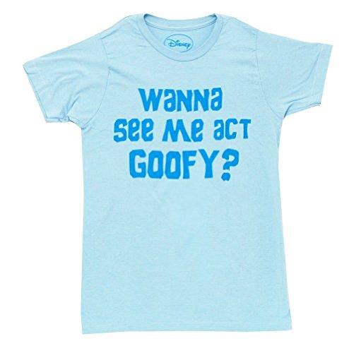 Act Goofy Erwachsene Flip Light blau T-shirt (Large) (Disney Bekleidung Für Erwachsene)