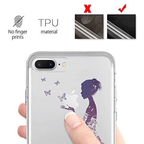iPhone 7 Plus Hülle, JEPER iPhone 7 Plus Schutzhülle Ultra Slim Weiche Transparent TPU Case Soft Silikon Crystal Kratzfeste Klar Durchsichtig Handyhülle Backcover Case für iPhone 7 Plus pattern02