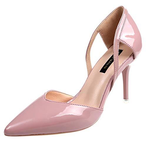 MakefortuneDamen Spitzschuh Stilettos High Heel Slip On Kleid Pumps Pumps Pumps High Heel Pumps 5 Zoll Stiletto Heel Platform