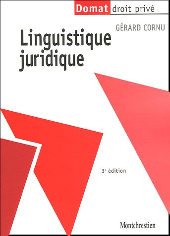 Linguistique juridique par Gérard Cornu