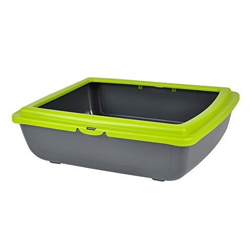 CDaffaires bac a litiere en plastique + rebord vert anis 46*36*h.12cm