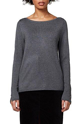 ESPRIT Collection Damen 997EO1I810 Pullover, Grau (Gunmetal 5 019), Small