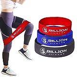 5BILLION Resistance Hip Band Booty Exercise Glute Strengthening Antiscivolo Peach Glute Loop con Una Borsa da Trasporto (Rosso + Blu + Grigio)